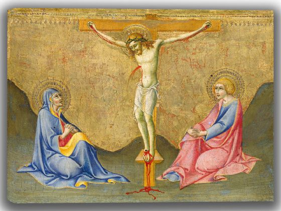 Pietro, Sano di: The Crucifixion. Fine Art Canvas. Sizes: A4/A3/A2/A1 (004176)
